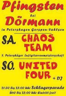 Pfingst-Party: Chaos Team und 7. Petershäger Luftgitarrenmeisterschaft